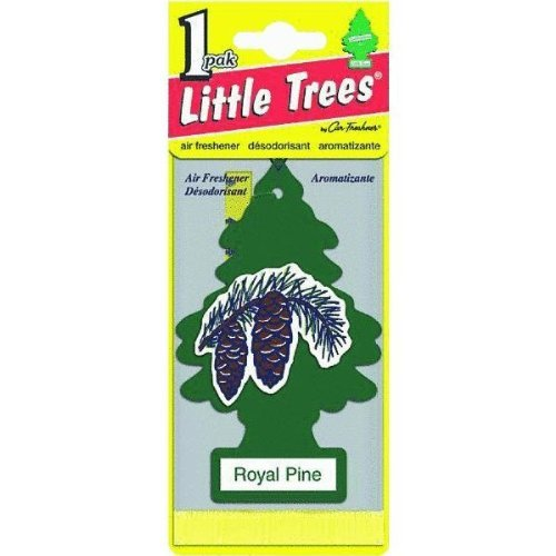LITTLE TREES Car Air Freshener | Hanging Paper Tree for Home or Car | Royal Pine | 12 Pack