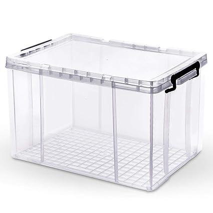 Axiba Cajas de almacenaje De plástico Transparente Ropa Juguetes Libro Almacenamiento Caja