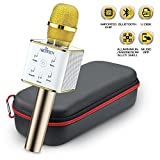 #4: Wireless Karaoke Microphone – Portable Handheld Q7 With Loud Built-in Speakers - Easy Bluetooth Connection, Rechargeable - For All Devices - KTV Singing & Recording – Includes A Case - Perfect Gift!