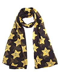 Official Super Mario Bros Super Star Cotton Fashion Scarf - One Size Adult