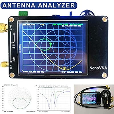 YWILLINK Vector Networks Analyzer 50KHz-900MHz Antenna Standing Wave MF HF VHF 2.8 Inch Screen