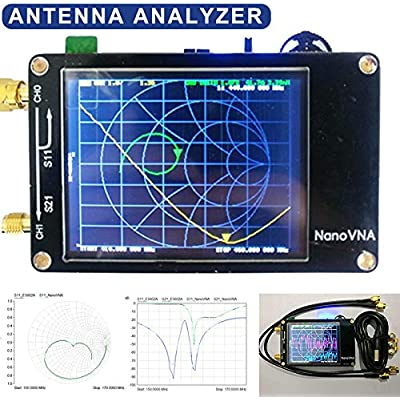 Teekit Vector Networks Analyzer 50KHz-900MHz Antenna Standing Wave VHF 2 8 Inch Screen