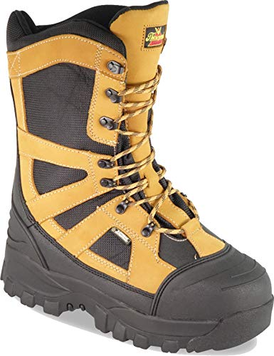 Thorogood 861-4071 Men's Endeavor Extreme 12'' Waterproof Snow Boot, Black & Tan - 8.5 W US