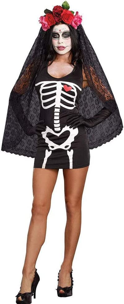 CAGYMJ Cosplay Dress Ropa De Mujer,Medieval Esqueleto Novia ...
