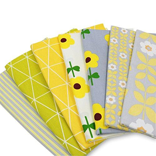 7pz/lotto 40x 50cm tessuto di cotone per cucire patchwork e quilting Crafts SHENGZE