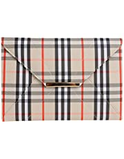DOCO Made in USA,Luxurious Classic Plaid Clutch Purses Elegant Unique Evening Bag for Women with Wrist Strap,sj0952