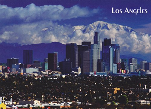 TRKLA001 058 LOS ANGELES, CALIFORNIA - A Spectacular view of Downtown Los Angeles POSTCARD .. from Hibiscus - In Downtown Stores Los Angeles