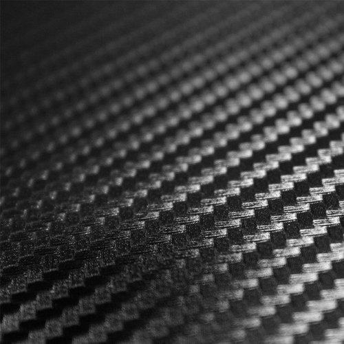 TCBunny 3D Carbon Fiber Vinyl Film Wrap Sticker Sheet, Black - 12 Inch x 60 Inch Carbon Fiber Sheet