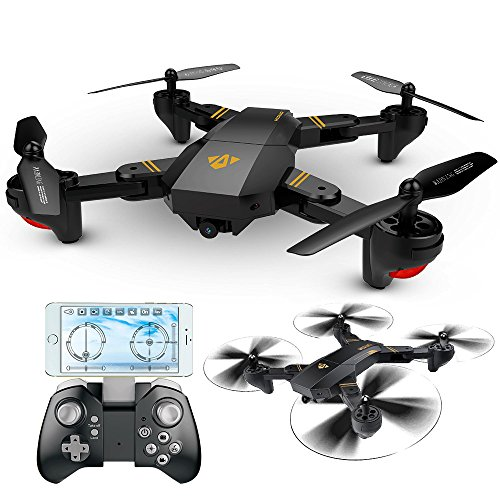 ElementDigital RC Quadcopter Wifi FPV Selfie Drone RTF VISUO XS809HW 2.4G 4CH 6-Axis WIFI Foldable 2.0MP HD 120°Wide Angle 720P Camera G-Sensor One Key Return Height Hold