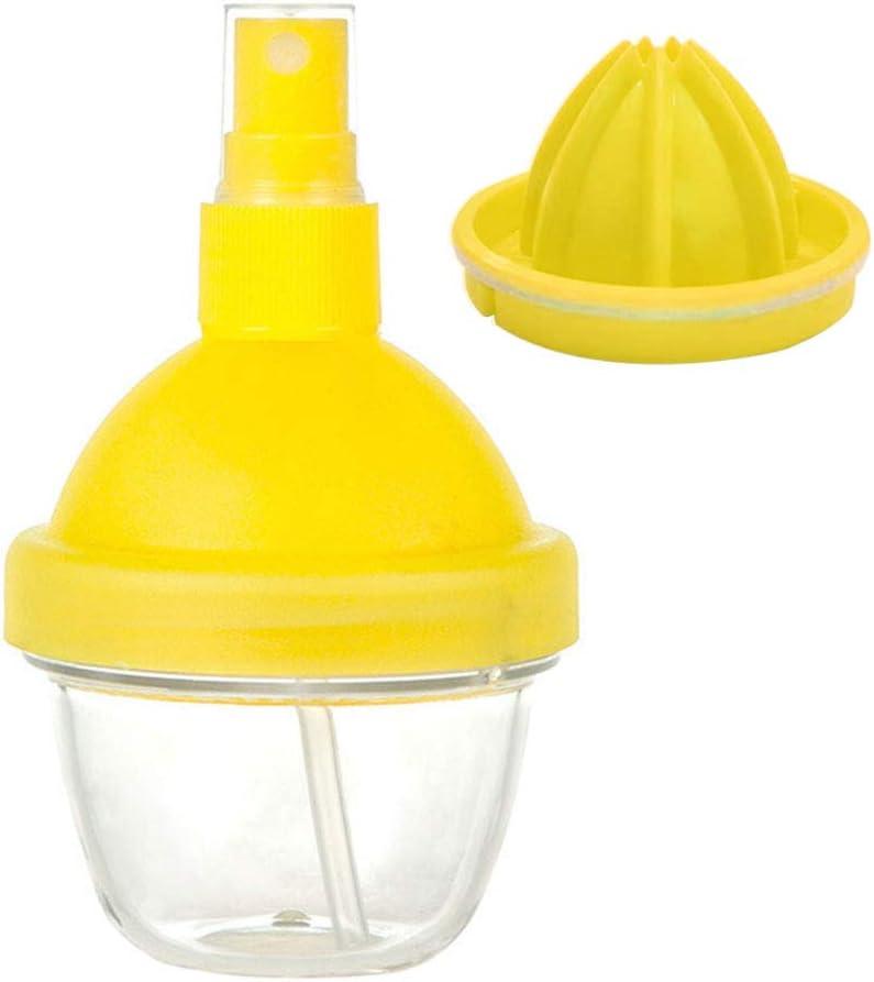 Lemon and Citrus Reamer, Manual Lemon Squeezer Juicer & Mist Sprayer for Salad/Steak/BBQ