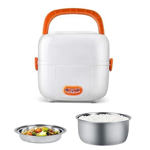 Caja de almuerzo eléctrica sin BPA multifuncional, mini olla de ...