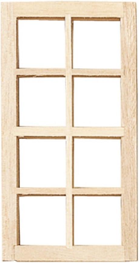 Dollhouse Miniature Standard 8-Light Window