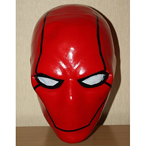 1:1 Custom Halloween Costume Cosplay Latex Batman The Red Hood Mask LA15 (Red Halloween Mask)