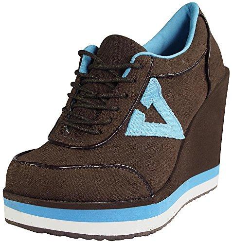 Volatile Platform Sneakers - Volatile Kicks Women's TMI Fashion Sneaker,Brown,7.5 B US