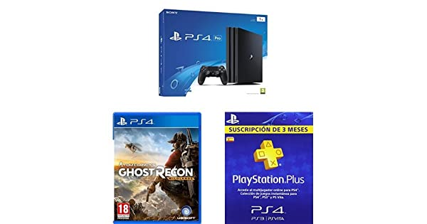 PlayStation 4 Pro (PS4) - Consola de 1 TB + Ghost Recon ...