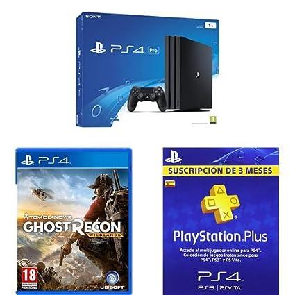 PlayStation 4 Pro (PS4) - Consola de 1 TB + Ghost Recon ...