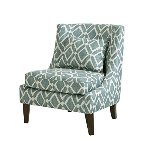 Madison Park Waverly Swoop Arm Chair Blue See Below