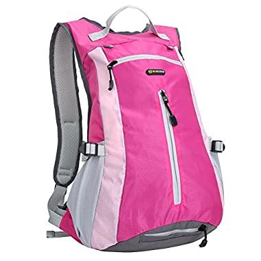 Hiking Backpack - Evecase Compact Waterproof Outdoor Climbing Sport Daypack- Pink