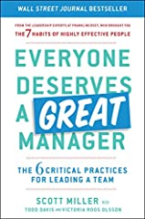 ***A WALL STREET JOURNAL BESTELLER***From the organizational experts at FranklinCovey, an essential guide to becoming the great manager every team deserves.A practical must-read, FranklinCovey's Everyone Deserves a Great Manager is the...