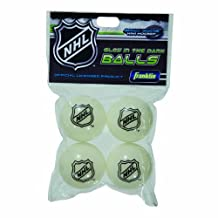 Franklin Sports NHL Glow in The Dark Mini Hockey Replacement Balls