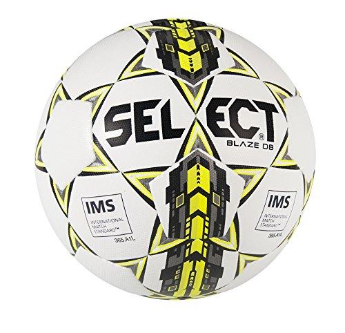 (Select Sport America Blaze Db Soccer Ball, Size 5, White/Yellow)