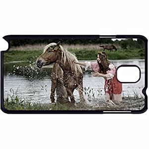 New Style Customized Back Cover Case For Samsung Galaxy Note 3 Hardshell Case, Back Cover Design Horse Personalized Unique Case For Samsung Note 3