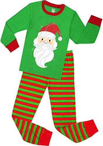 shelry Girls Santa Christmas Pajamas for Boys Cotton Clothes Kids Pjs Toddler Sleepwear Size 3 Years]()