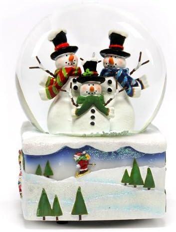 The San Francisco Music Box Co Musical Ornament Snowman Let It Snow 1996