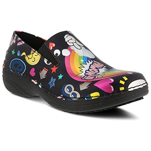 Work Graffiti Ferrara Step Spring Black Shoe Women's qxPnH