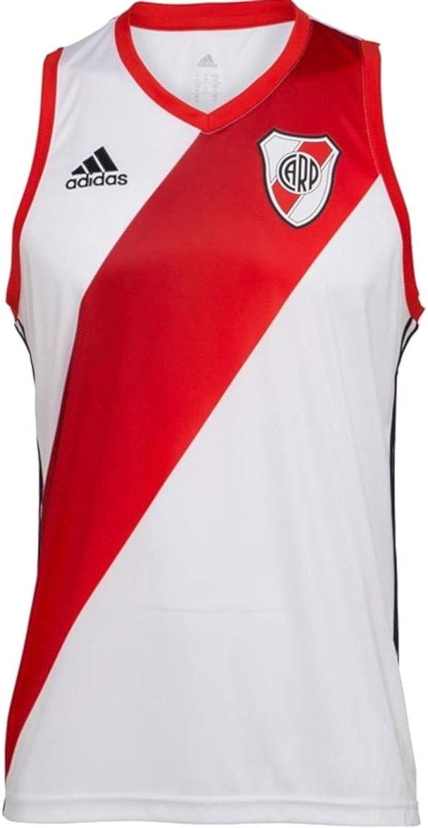 adidas Carp River Plate - Camiseta de fútbol, Color Blanco y Rojo