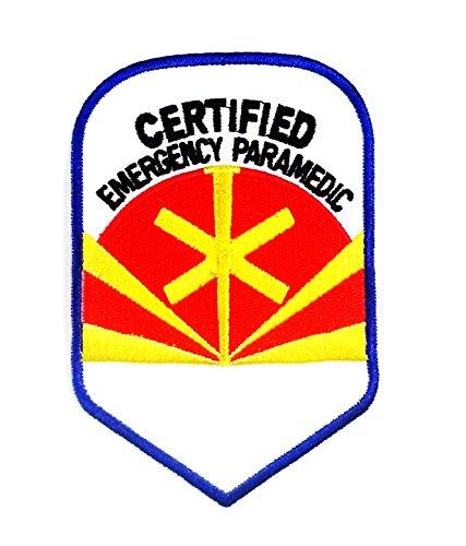 11.0 X 7.3 Cm Arizona, Certified Emergency Paramedic Patch (Paramedic Costume)