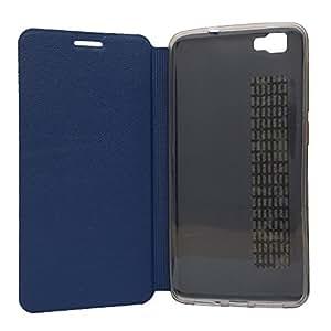 Voltear la cubierta del caso Cubot X15 caso de la cubierta + funda de silicona,Color azul marino