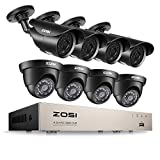 ZOSI 8CH 1080P Security Camera System HD-TVI Video DVR Recorder with (8) 2.0MP Bullet and Dome Weatherproof CCTV Cameras,Day&Night Vision,Motion Alert, Smartphone, PC Remote Access For Sale