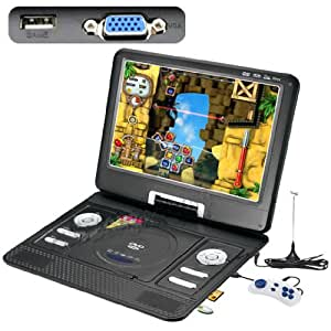 """13.3"""" Portable DVD Player LCD Screen Display CD VCD MP3 MP4 USB Home Theater"""