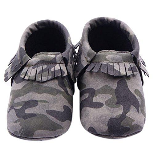 Fire Frog Baby Moccasins Boots - Patucos de Piel Sintética para niño Verde