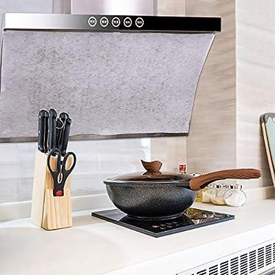 Justdolife 8PCS Gama De Papel De Filtro De Campana No Tejido Gama De Campana Filtro De Grasa Suministros De Cocina: Amazon.es: Hogar