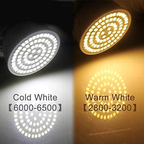 Pocketman 10 Paquete GU10 5W Bombillas LED 80-LED 3528 SMD 6000K Blanco Fr/ío Proyectores LED para Iluminaci/ón Interior AC220V /ángulo de haz de 120 /°