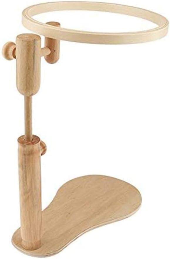 per la casa Gancio da ricamo rotondo da 30 cm con telaio in legno regolabile per punto croce con rotazione a 360 gradi per punto croce