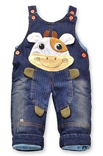 Jeans Latzhose 'Kuh'| Baby Hose, Größe:12-18 Monate