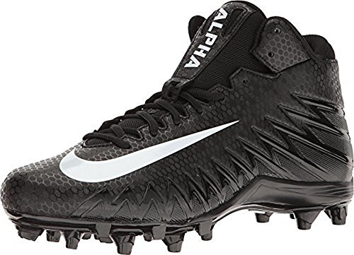 NIKE Mens Alpha Menace Varsity MID, Black/White-White, 8 by NIKE