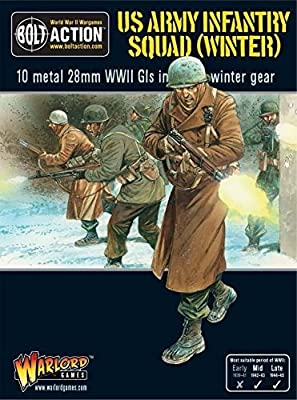 Warlord Games - Us Army Infantry Squad In Winter Clothing - 28mm Bolt Action by Warlord Games