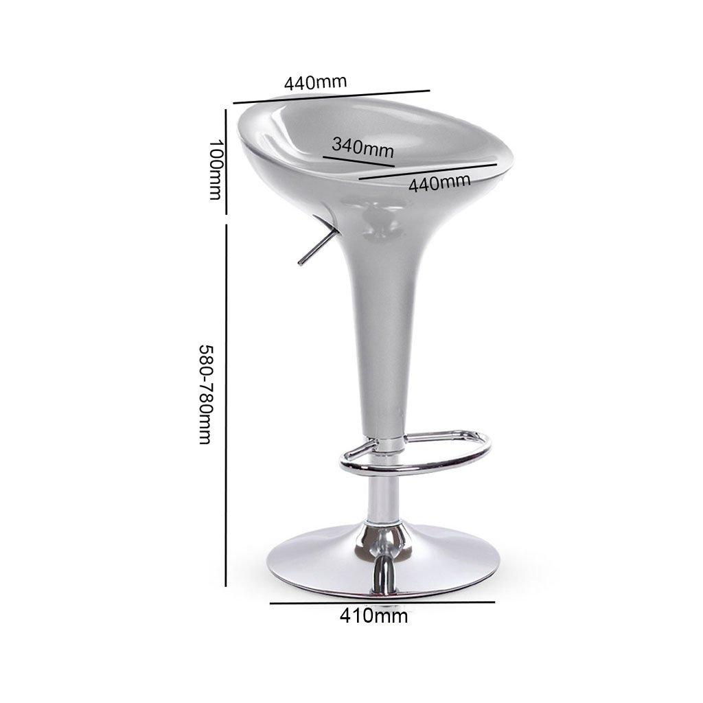 Amazon.de: Stilvoller Glanz-grauer ABS Plastikstab-Schemel-Küchen ...