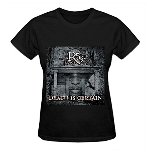 Royce Da 59 Death Is Certain Jazz Women's Round Neck Personalized Tees Black