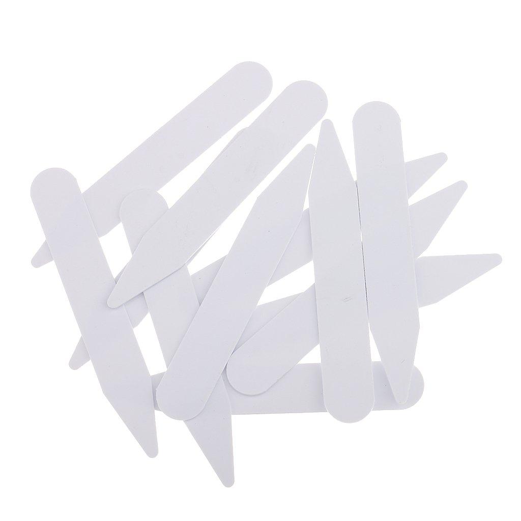 MonkeyJack 200 Pieces 6.35cm / 2.5'' Men Women Plastic White Formal Shirt Collar Bones Stiffeners Tabs Stays