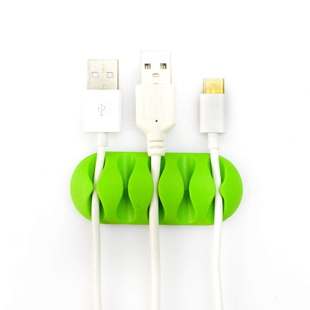Xiton - Organizador de Cables Multiusos para Cable de Carga/rató n (Verde)