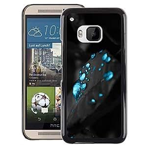 Red-Dwarf Colour Printing Blue Mysterious Carbon Water Aqua - cáscara Funda Case Caso de plástico para HTC One M9