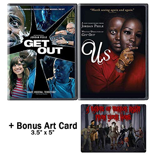 Jordan Peele Nightmare Collection: 2 Movies (Get Out / Us) + Bonus Art Card -