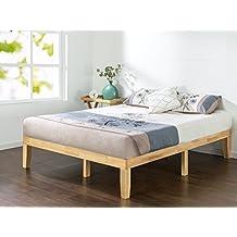 Zinus 14 Inch Wood Platform Bed / No Boxspring Needed / Wood Slat Support / Natural Finish, Full