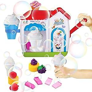 Bath Bubble Machine Toy,Bath Toys for Toddlers Foam Maker Bathtub Ice Cream Toys Gift, Durable Safe Bubble Maker Bath…