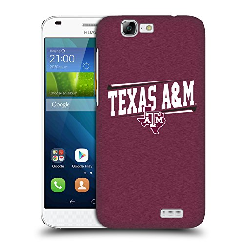 Official Texas A&M University TAMU Double Bar Hard Back Case for Huawei Ascend G7